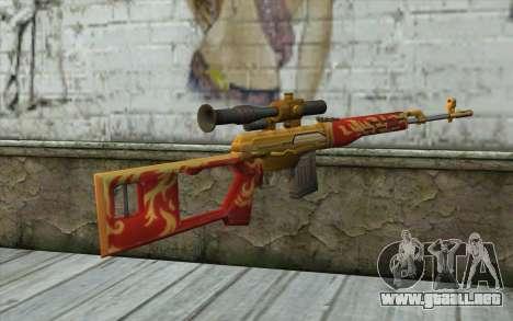 El Dragunov Sniper Rifle (Punto Blanco) para GTA San Andreas segunda pantalla