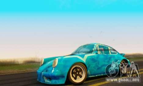 Porsche 911 Blue Star para GTA San Andreas vista posterior izquierda