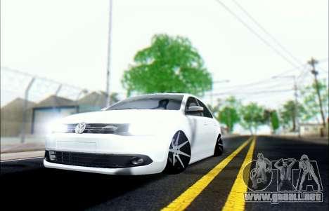 Volkswagen Jetta 1.4 Comfortline МТ para GTA San Andreas vista hacia atrás