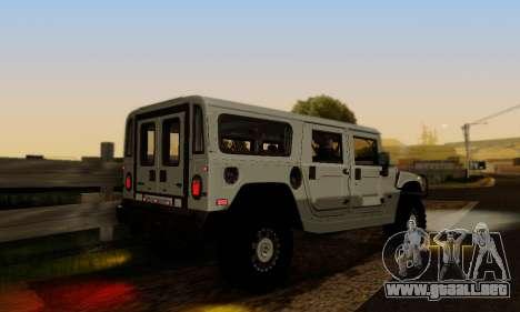 Hummer H1 Alpha para vista lateral GTA San Andreas