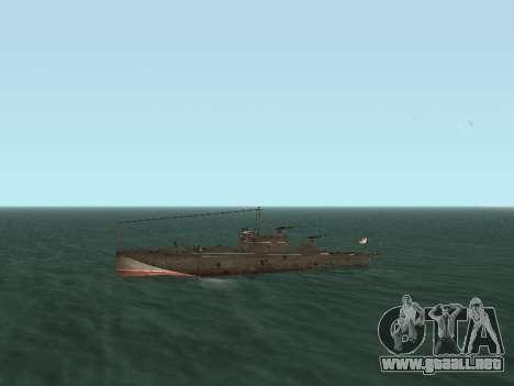 Bote Torpedo tipo G-5 para visión interna GTA San Andreas