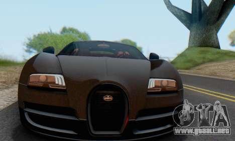 Bugatti Veyron Super Sport 2011 para visión interna GTA San Andreas