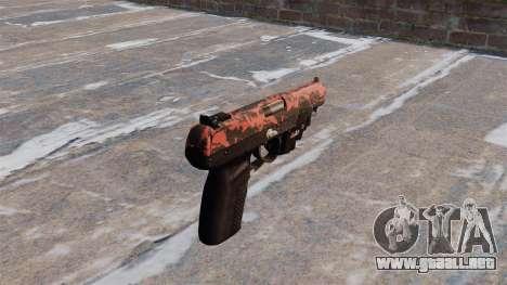 Pistola FN Five seveN LAM tigre Rojo para GTA 4 segundos de pantalla