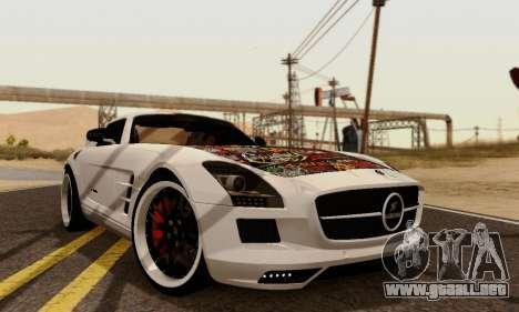 Mercedes SLS AMG Hamann 2010 Metal Style para GTA San Andreas vista posterior izquierda