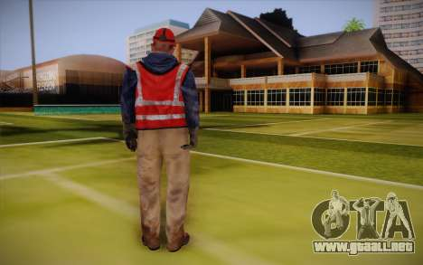 Trabajador de la carretera para GTA San Andreas segunda pantalla