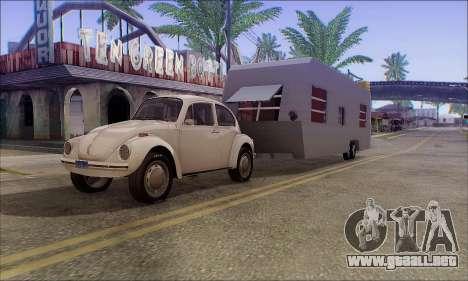 La Caravana De Remolque para GTA San Andreas vista posterior izquierda
