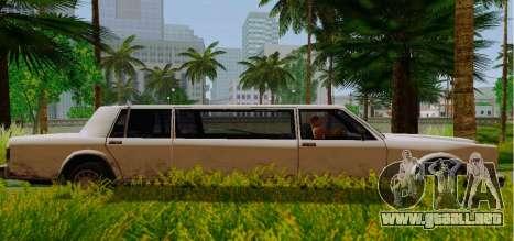 Greenwood Limousine para GTA San Andreas left