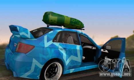 Subaru Impreza Blue Star para la vista superior GTA San Andreas