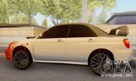 Subaru Impreza WRX para GTA San Andreas vista posterior izquierda