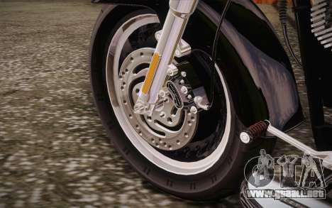 Harley-Davidson Fat Boy Lo 2010 para visión interna GTA San Andreas