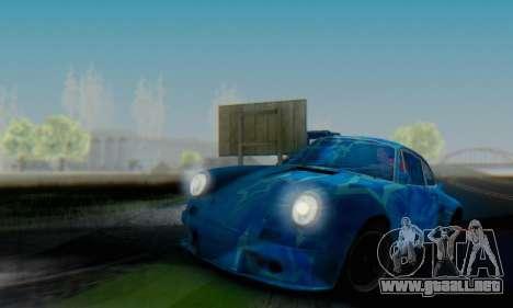 Porsche 911 Blue Star para GTA San Andreas vista hacia atrás