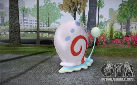 Gary (bob esponja) para GTA San Andreas segunda pantalla