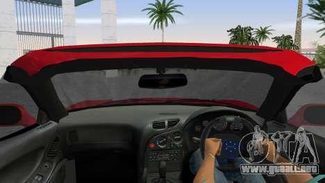 Mazda RX7 FD3S RE Amamiya Road Version para GTA Vice City visión correcta