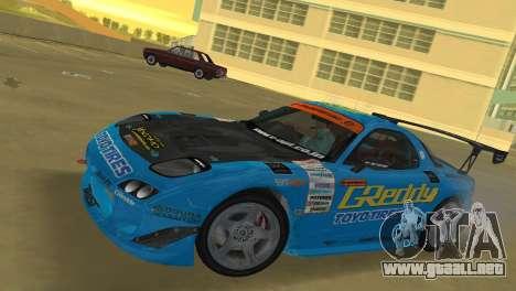 Mazda RX7 FD3S RE Amamiya G-Reddy para GTA Vice City left