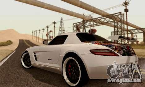Mercedes SLS AMG Hamann 2010 Metal Style para la visión correcta GTA San Andreas