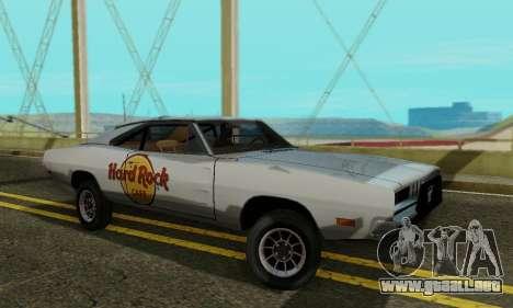 Dodge Charger 1969 Hard Rock Cafe para GTA San Andreas left