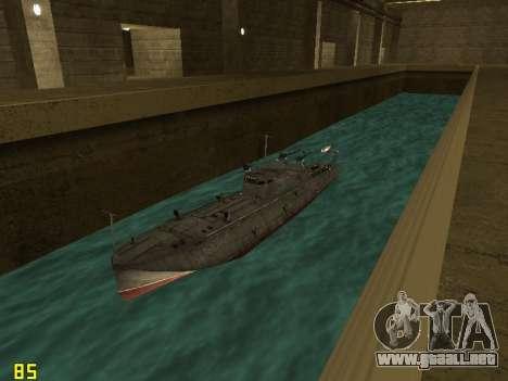 Bote Torpedo tipo G-5 para GTA San Andreas vista hacia atrás