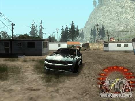 El velocímetro en el estilo de neón para GTA San Andreas