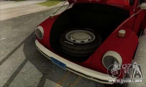1973 Volkswagen Beetle para vista inferior GTA San Andreas