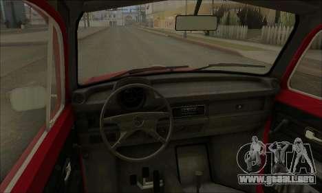 1973 Volkswagen Beetle para vista lateral GTA San Andreas