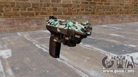 Pistola FN Five seveN LAM Aqua Camo para GTA 4