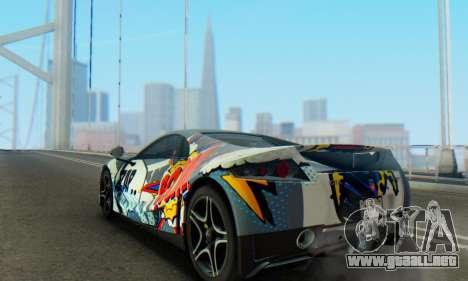 GTA Spano 2014 IVF para GTA San Andreas interior