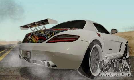 Mercedes SLS AMG Hamann 2010 Metal Style para GTA San Andreas vista hacia atrás