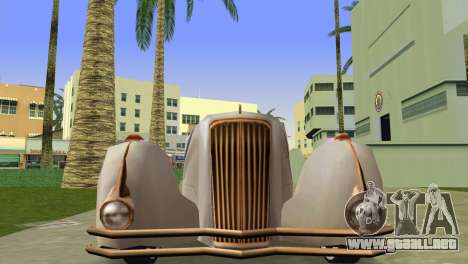 Cadillac Series 37-90 1937 V16 Cabriolet para GTA Vice City visión correcta