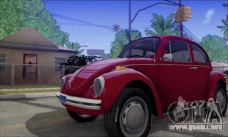 1973 Volkswagen Beetle para visión interna GTA San Andreas