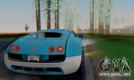 Bugatti Veyron Super Sport 2011 para la vista superior GTA San Andreas