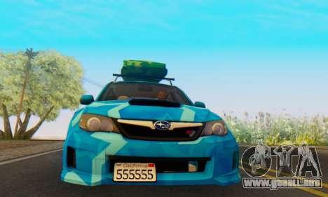 Subaru Impreza Blue Star para GTA San Andreas left