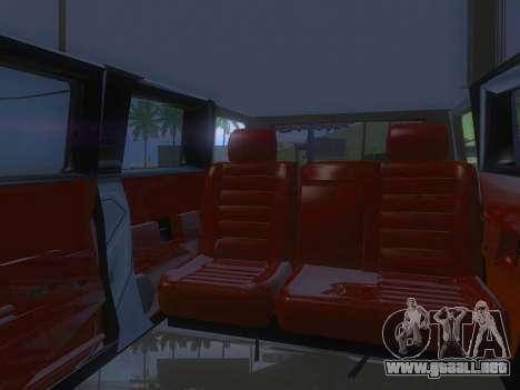 Hummer H2 Limousine para vista lateral GTA San Andreas