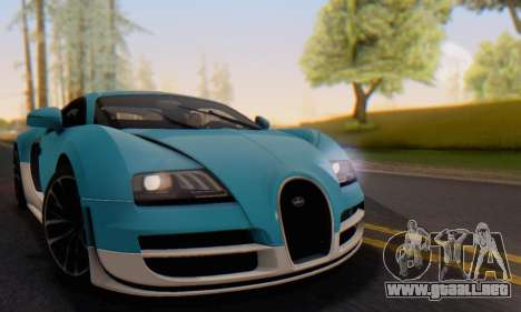 Bugatti Veyron Super Sport 2011 para GTA San Andreas interior