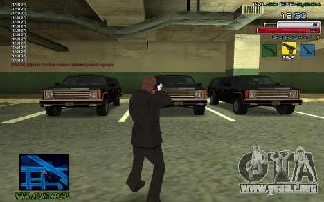 C-HUD SampHack para GTA San Andreas tercera pantalla