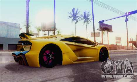 Zentorno GTA 5 V.1 para GTA San Andreas left