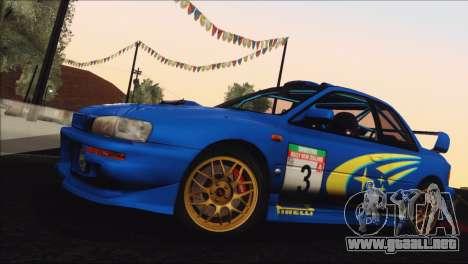 Subaru Impreza 22B STi 1998 para la vista superior GTA San Andreas