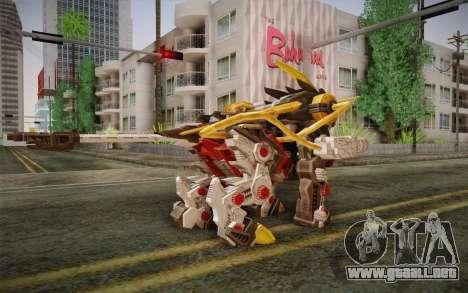 Energy Liger from Zoids para GTA San Andreas segunda pantalla
