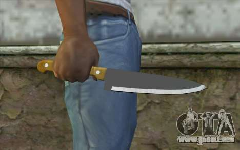 Cuchillo de cocina para GTA San Andreas tercera pantalla