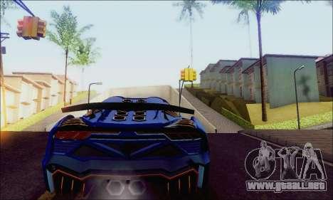 Zentorno GTA 5 V.1 para GTA San Andreas vista posterior izquierda