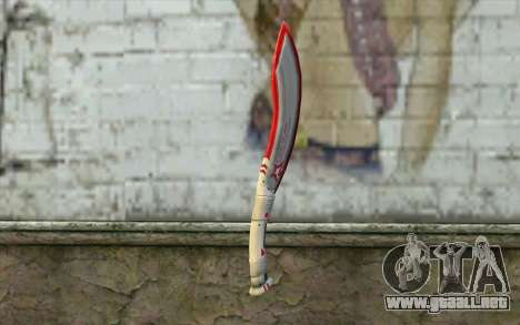 Fangblade Garena Star League from Point Blank para GTA San Andreas segunda pantalla