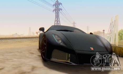 GTA Spano 2014 IVF para GTA San Andreas vista posterior izquierda