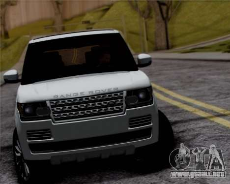 Range Rover Vogue 2014 para GTA San Andreas vista hacia atrás