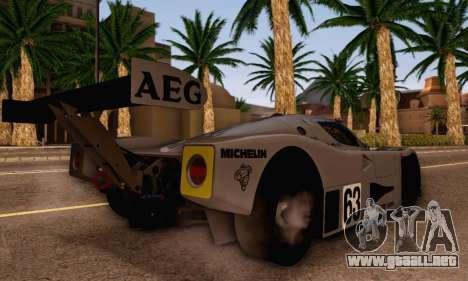 Mercedes Benz Sauber C63 1989 para GTA San Andreas left