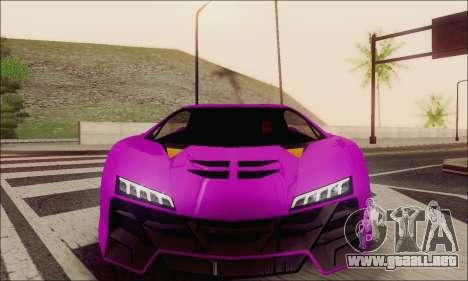 Zentorno GTA 5 V.1 para vista inferior GTA San Andreas