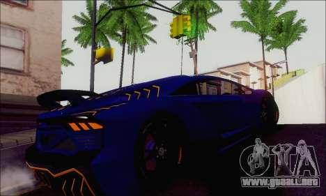 Zentorno GTA 5 V.1 para GTA San Andreas vista hacia atrás