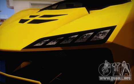 Zentorno из GTA 5 para visión interna GTA San Andreas