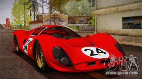Ferrari 330 P4 1967 IVF para las ruedas de GTA San Andreas