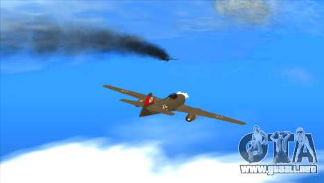 Messerschmitt Me.262 Schwalbe para vista lateral GTA San Andreas