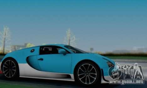Bugatti Veyron Super Sport 2011 para vista inferior GTA San Andreas