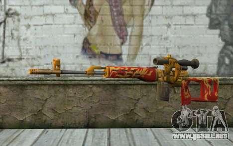 El Dragunov Sniper Rifle (Punto Blanco) para GTA San Andreas